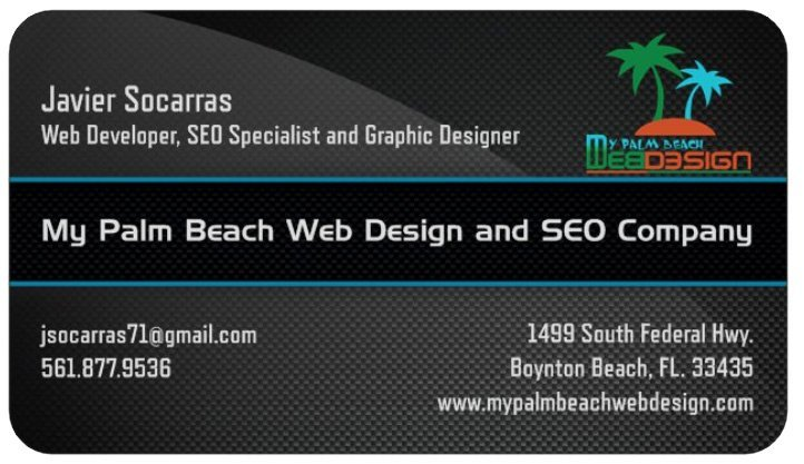 Palm Beach Web Design Contact